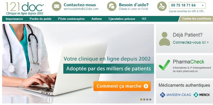 121doc est une pharmacie en ligne sérieuse qui propose la vente de médicaments en france