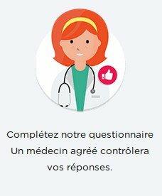 Compléter le questionnaire médical pour la réponse du médecin