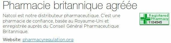 Pharmacie de confiance enregistrée sur le site pharmacyregulation