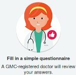 Complete the medical form and survey for the doctor's response