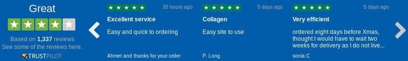 Extraer los comentarios y testimonios que dejan los clientes acerca de evolution-slimming.com