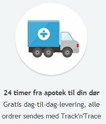 Hurtig levering af dine lægemidler inden for en eller to arbejdsdage