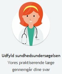Udfyld den medicinske formular og undersøgelsen for lægens svar