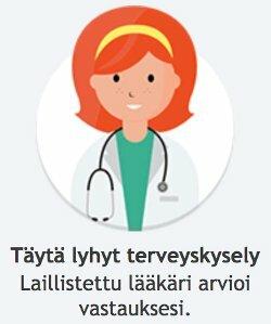 Suorita lääketieteellinen lomake ja kysely lääkärin vastaukselle